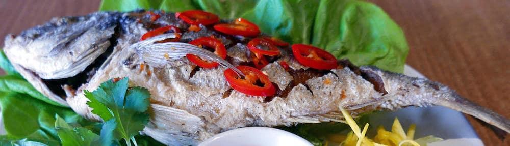 q and t vietnamese kitchen crispy whole sea bream