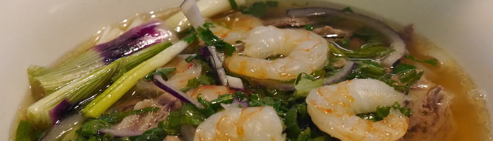 q and t vietnamese kitchen prawn pho