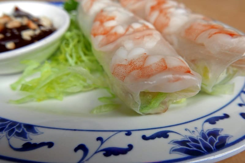 Fresh Summer Prawn Rolls