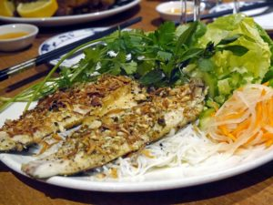 Grilled Sea Bass Fillets